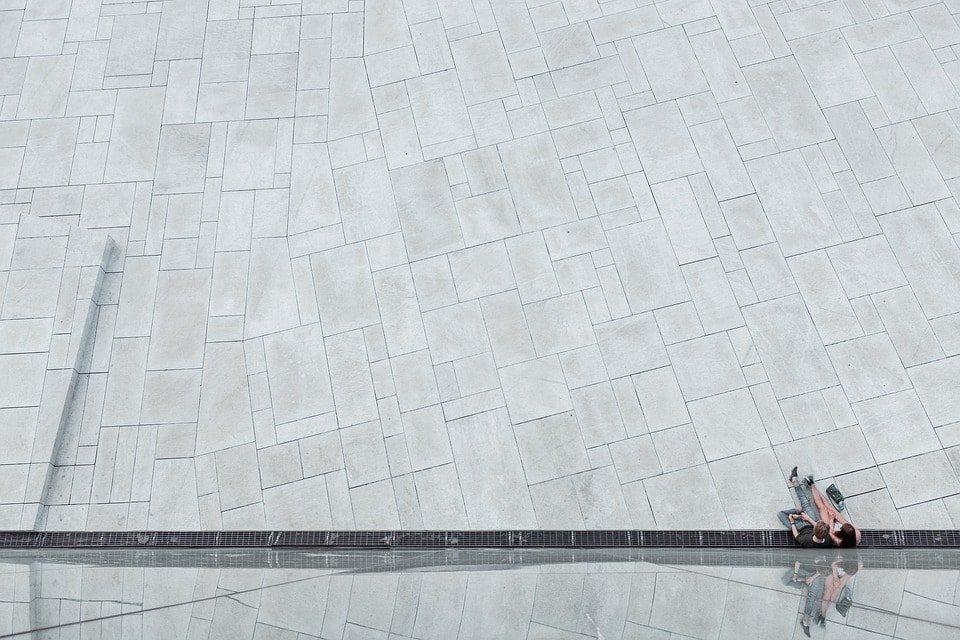 vista de pavimento impreso
