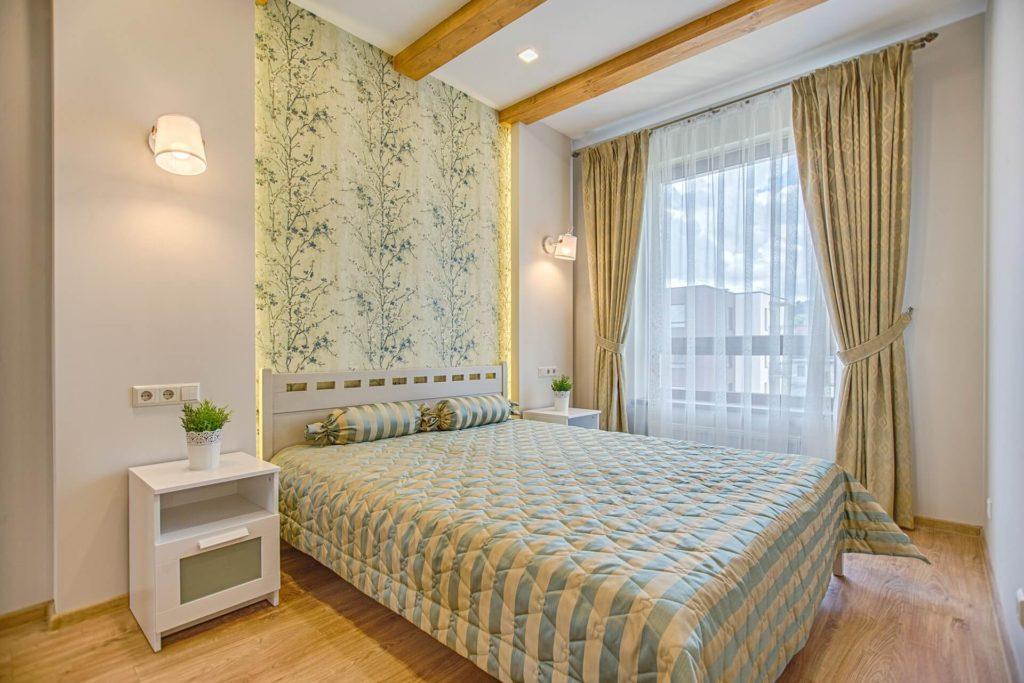 El papel pintado tendencia en el diseño de dormitorios
