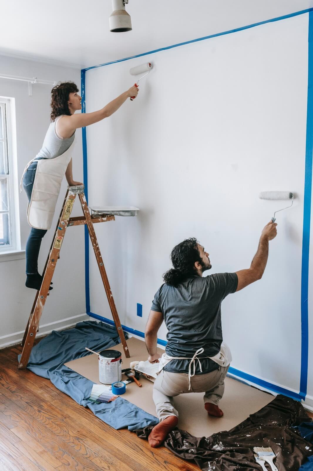 decoración de paredes con pintura