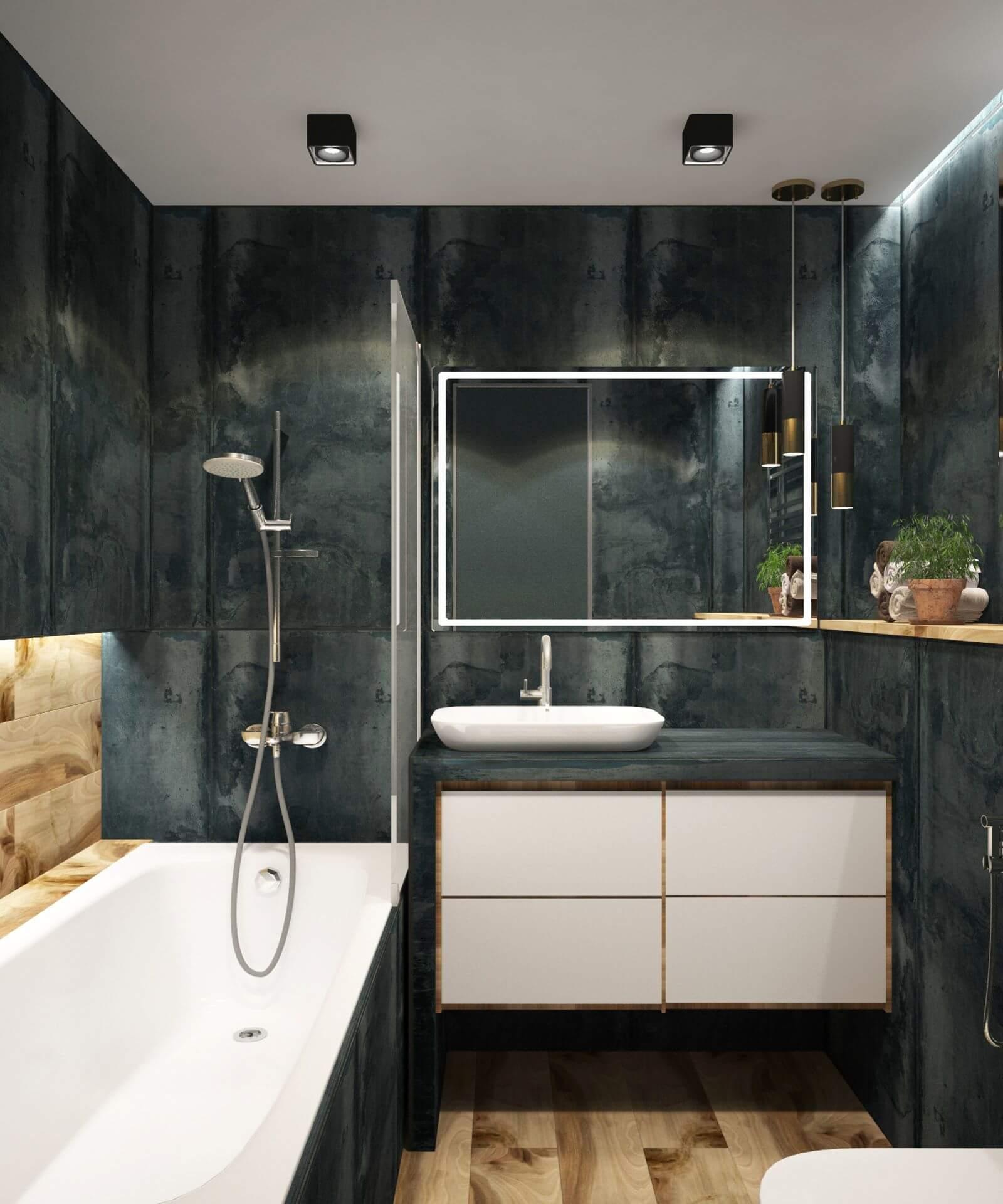 cuarto de baño sin ventanas