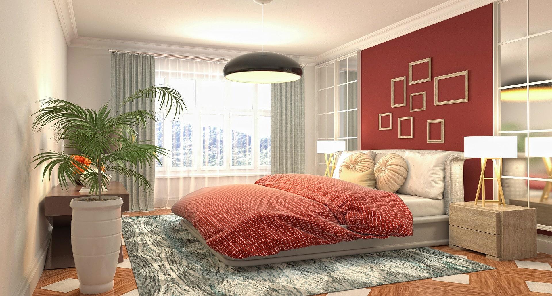 dormitorio con luces led