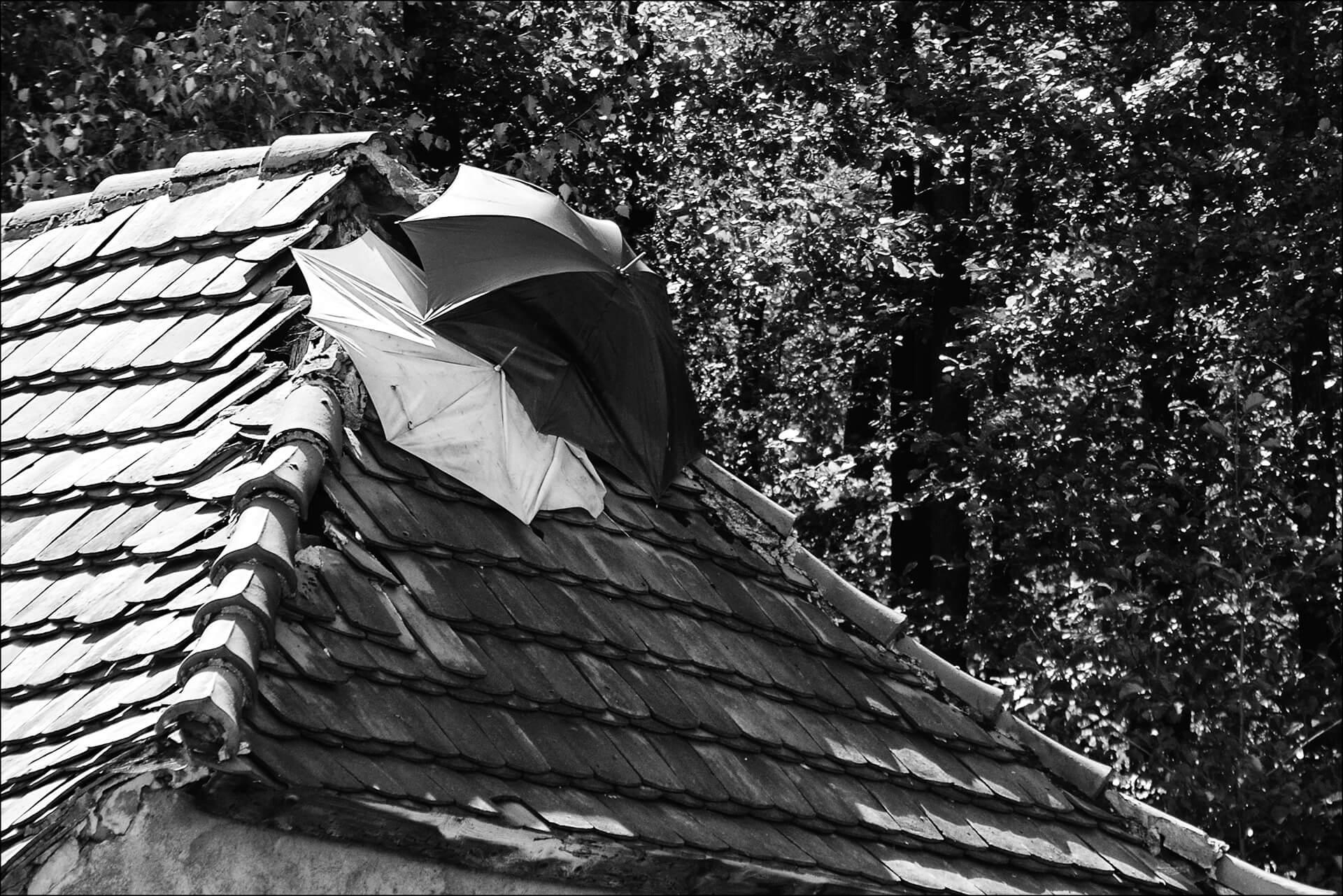 casa protegida de la lluvia